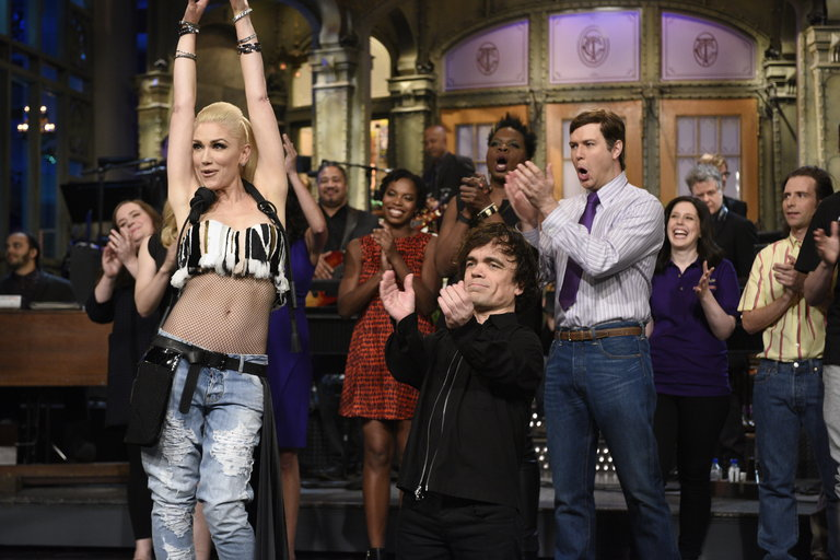 From the Set: Peter Dinklage and Gwen Stefani