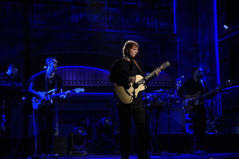 From the Set: Alec Baldwin and Ed Sheeran