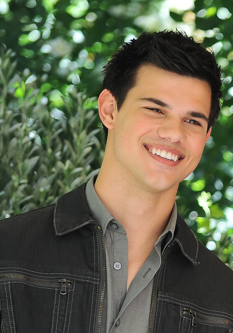 US actor Taylor Lautner poses during the