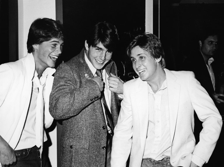 Rob Lowe, Tom Cruise, & Emilio Estevez At Premiere