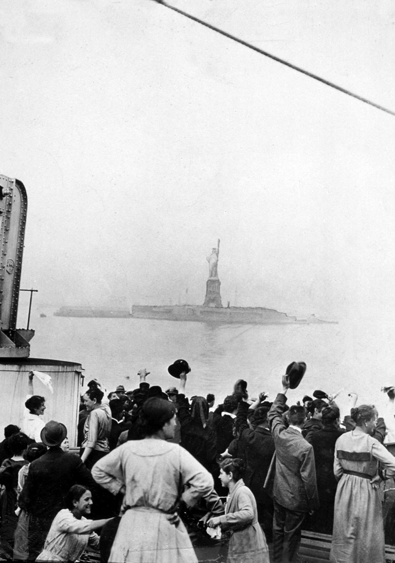 Arriving of immigrants in Ellis Island, New York, c. 1905
