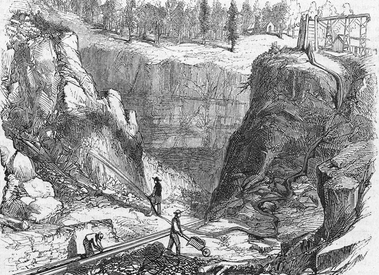 Hydraulic Mining During The Gold Rush