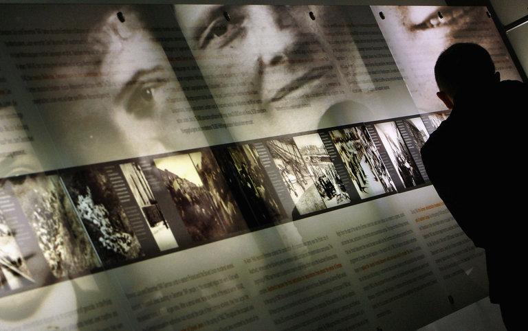 People Visit Berlin Holocaust Memorial Information Center