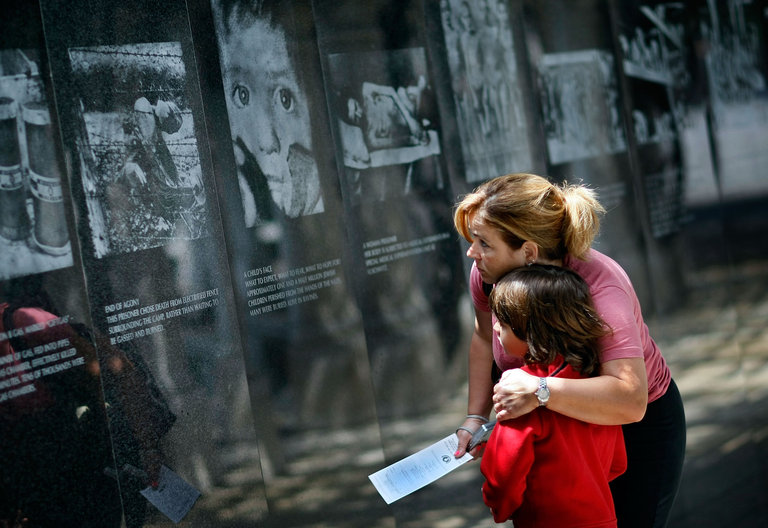 Holocaust Memorial Ceremonies Take Place On Holocaust Remembrance Day