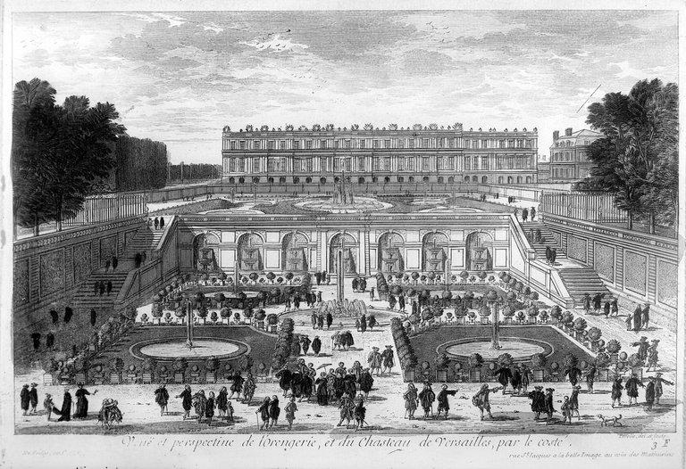 Versailles (Yvelines). The orangery of the castle.