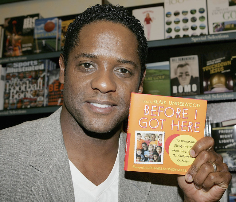 Blair Underwood Signs His New Book At Barnes & Noble At The Grove