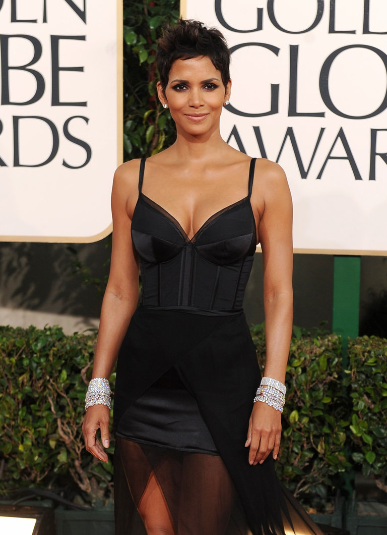 Actress Halle Berry arrives on the red c