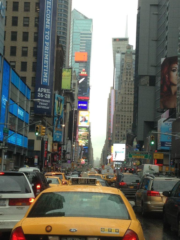 NYC Times Square Traffic!