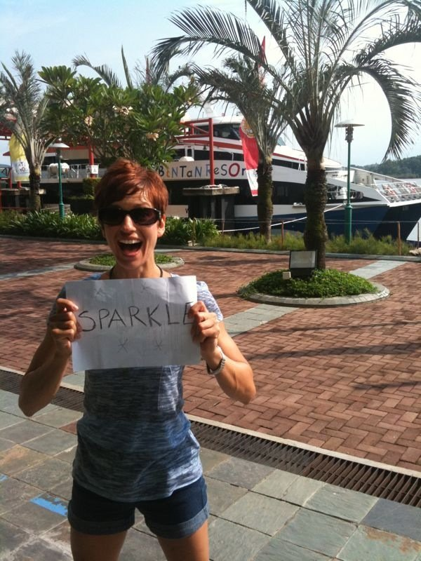 Our leading lady, Nancy wishing us luck from Indonesia!