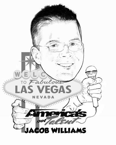 Cartoon Jacob in Vegas