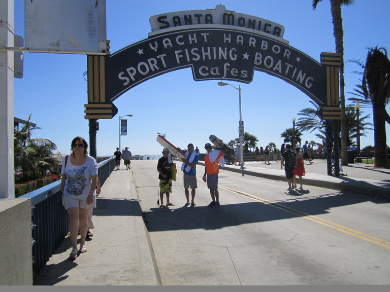 The guys at Santa Monica Pier