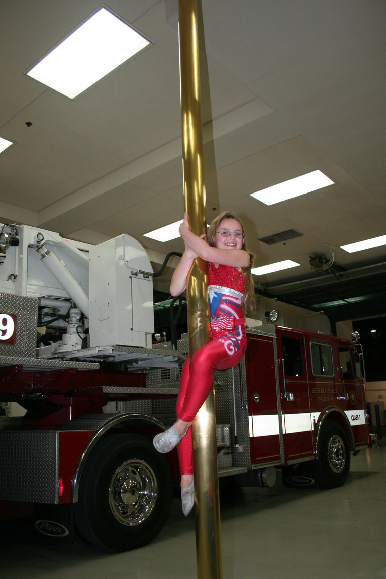 Miss Ellie visits the Beverly Hills Fire Department