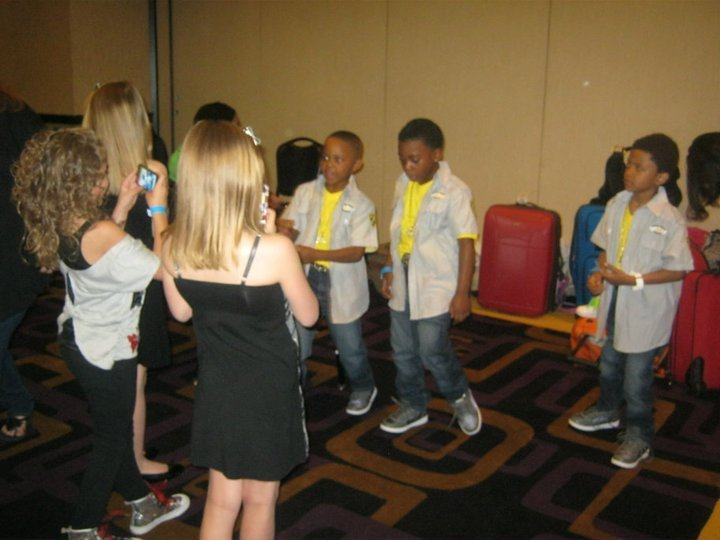 We were waiting in the holding room and they asked us to rap.
