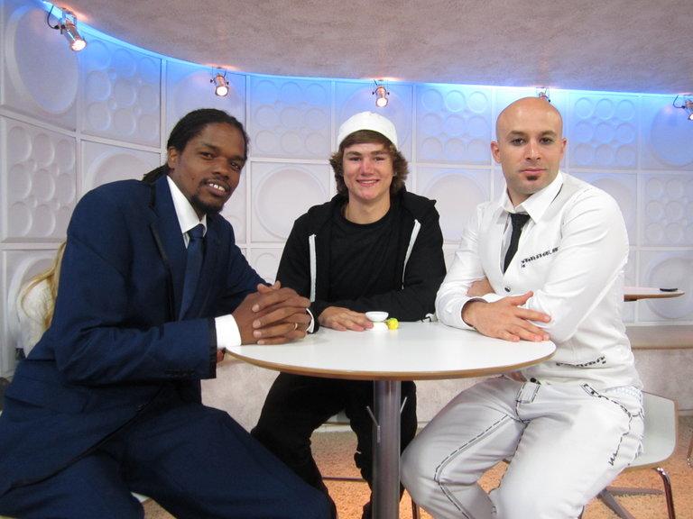 Landau and Ian with Seth