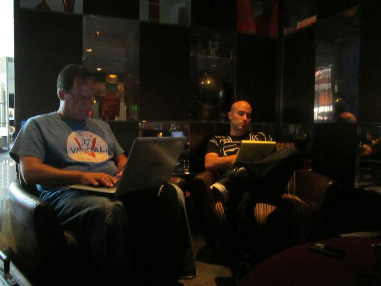 Adam brainstorming