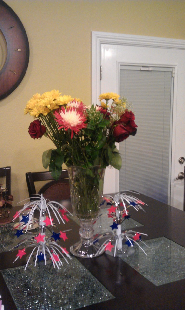 beautiful flowers for us too :)