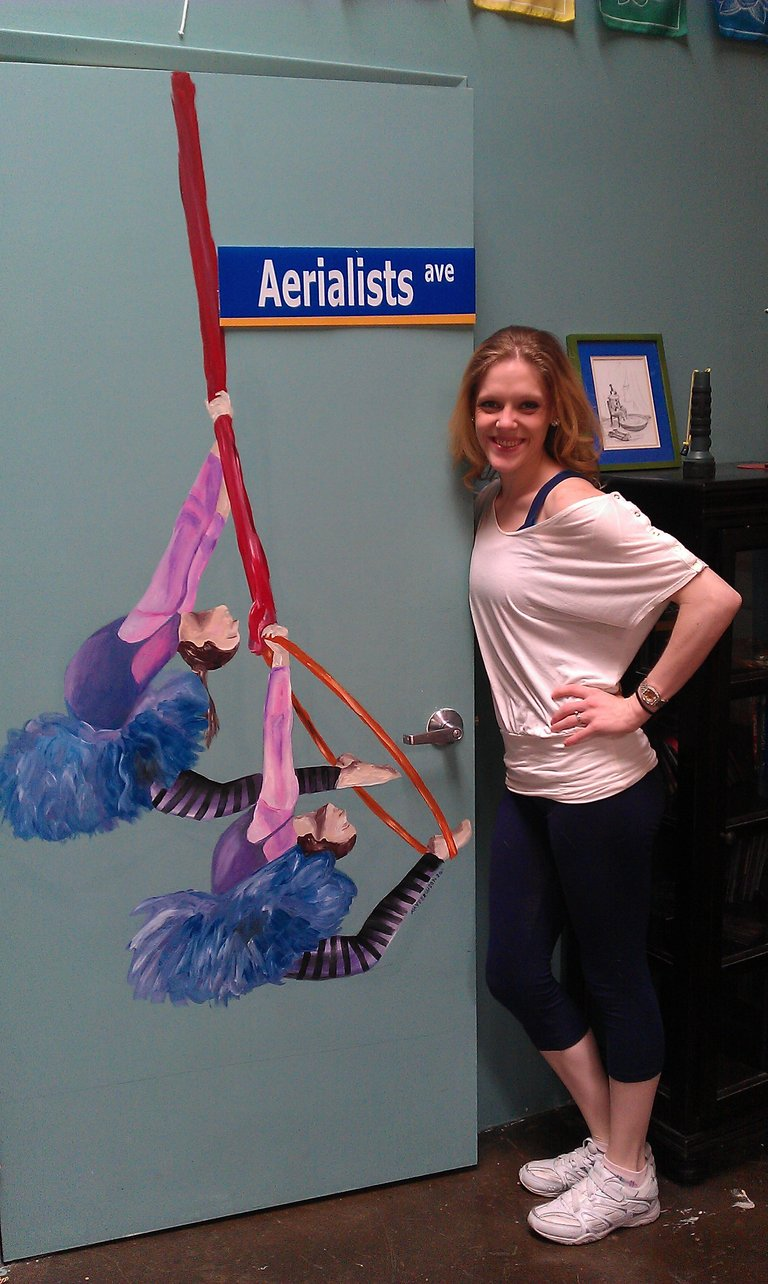 Cassie, Aerial painting!