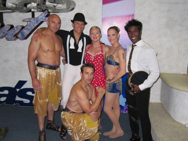Greenroom with performers