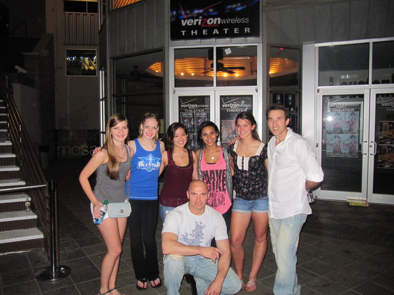 this was after our houston audition outside the theater...some great fans!!