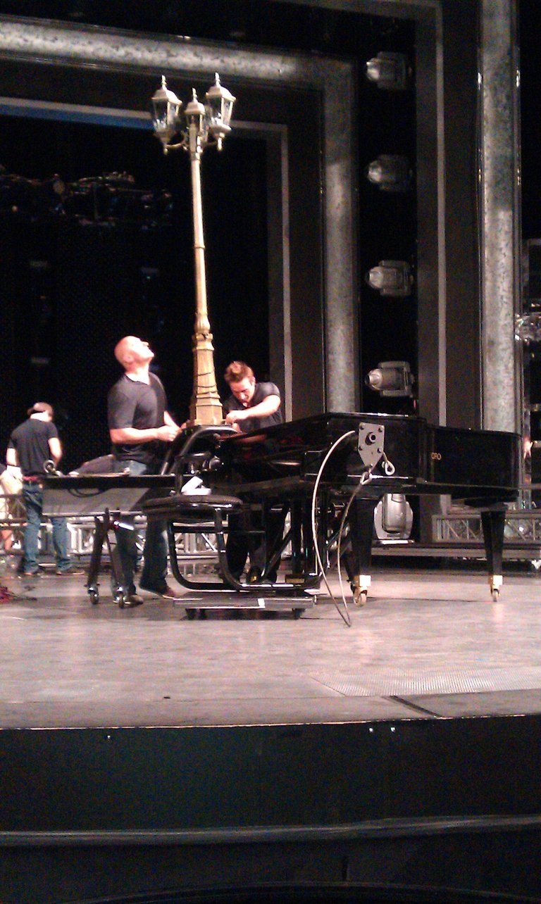 Getting prop on stage