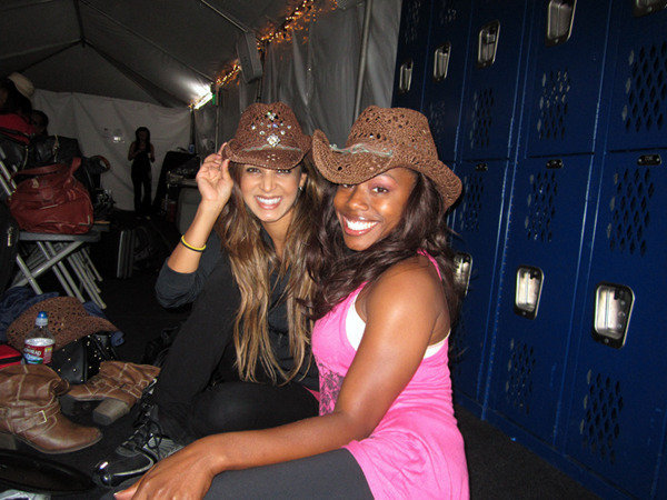 Kristina and Phoenix with their rhinestoned hats!