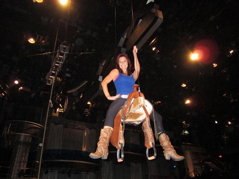 Lindsay up high on the Saddle