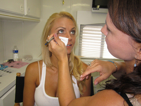 Paige in the Makeup Chair