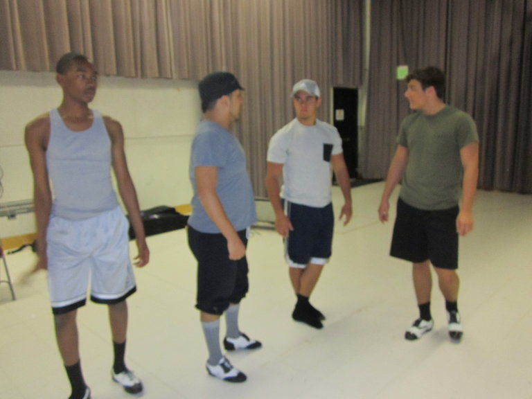 The Boys Hanging Out In The Rehearsal Room