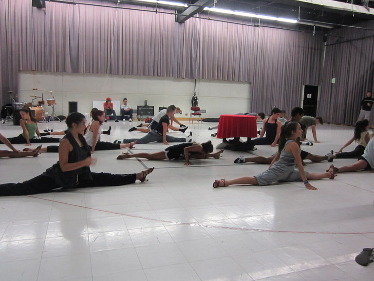 The Miami All Stars Getting A Good Stretch Before Rehearsing