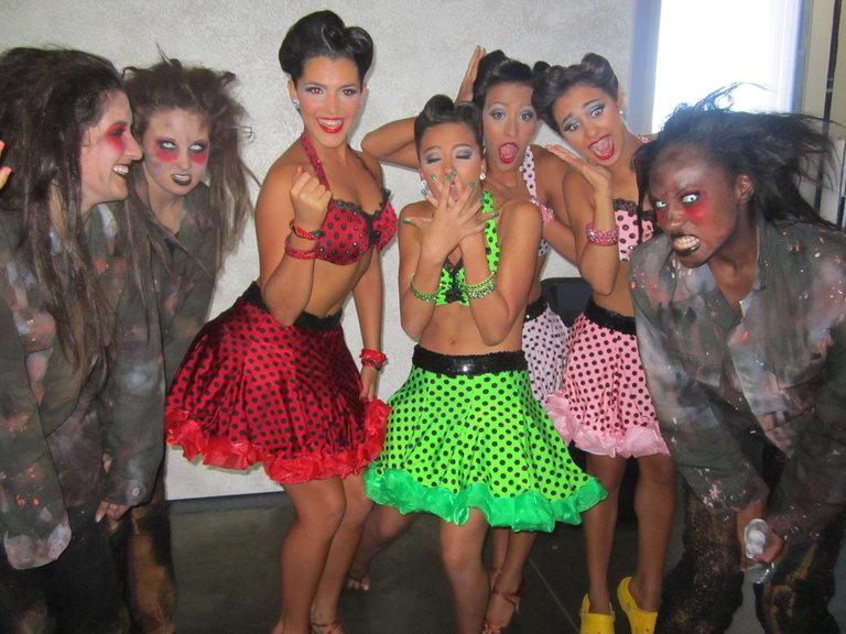 West SpringfIeld Dance Team Scaring Us! Haha! Gotta Love 'Em