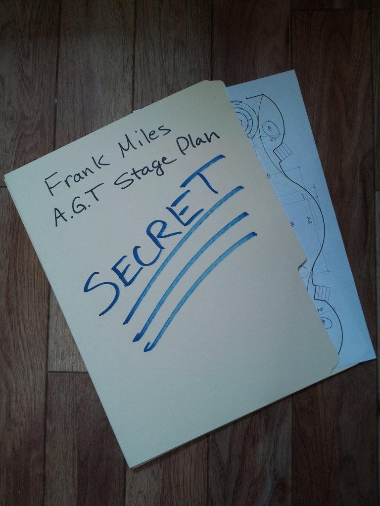 Frank Miles AGT stage plan