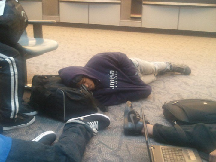 Sleep at Airport