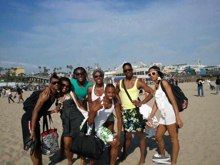 At Santa Monica Beach