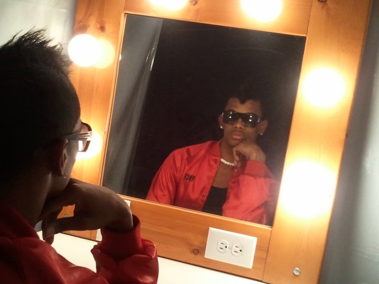 PrinceAlonzo in the dressing room