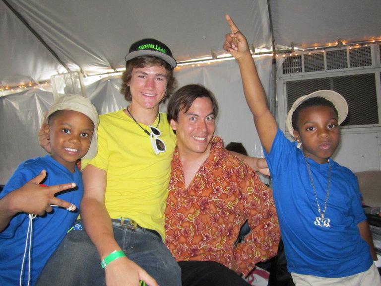 Sh'Boss, Ian and Mauricio backstage