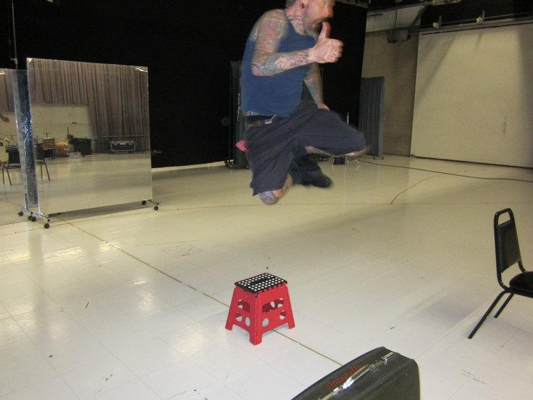 Kicking up his Heels!