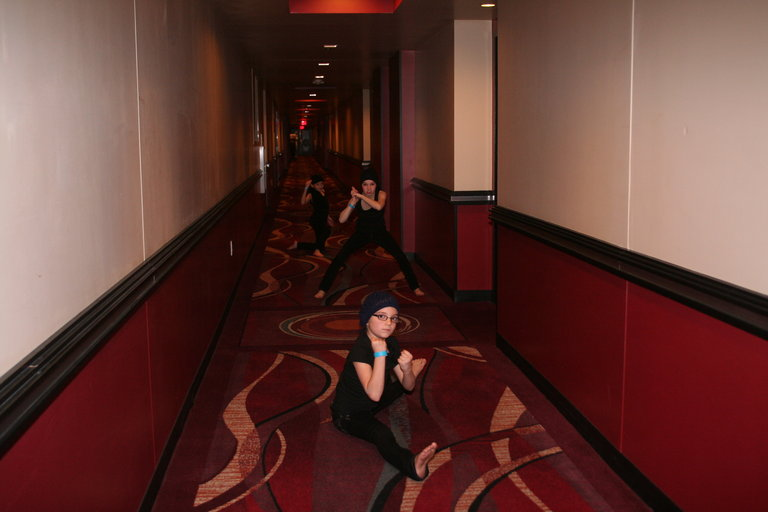 A+CH Playing Ninja Spies in Hotel in Vegas