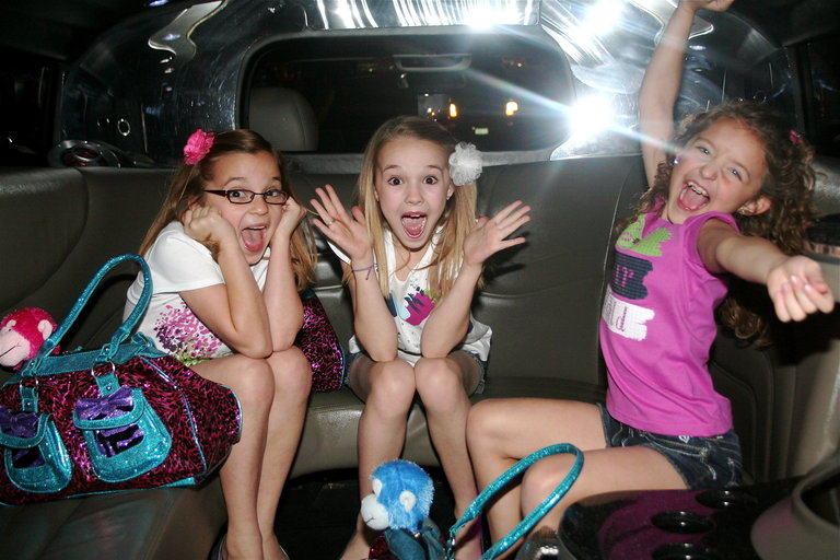 A+CH Partyin' in the Limo in Vegas