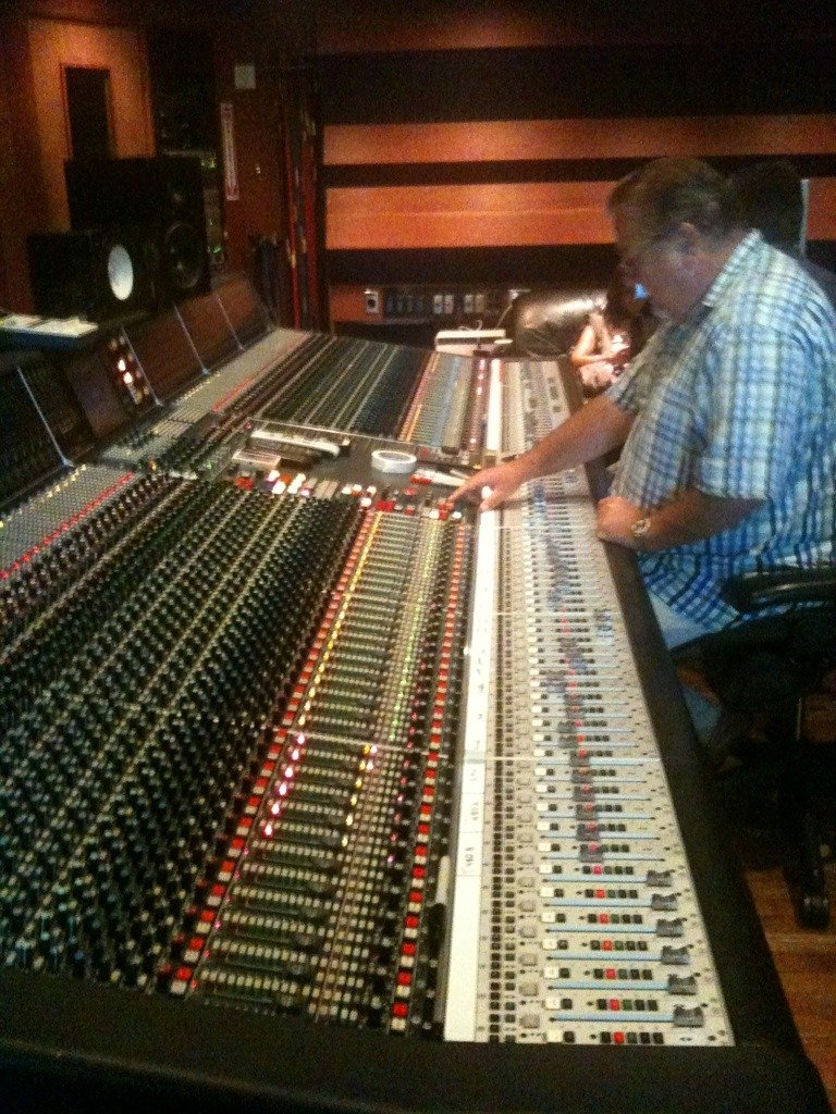 wow thats alot of buttons! sound board at agt studios.