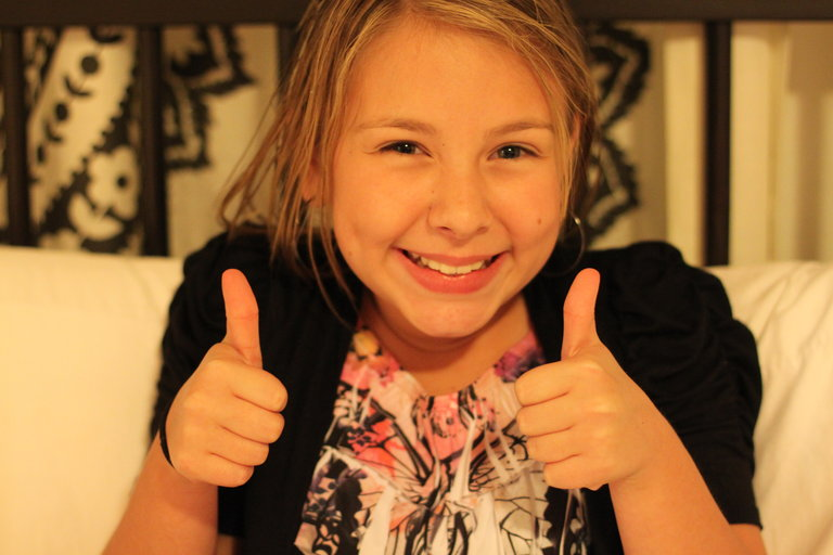 thumbs up for a great show.