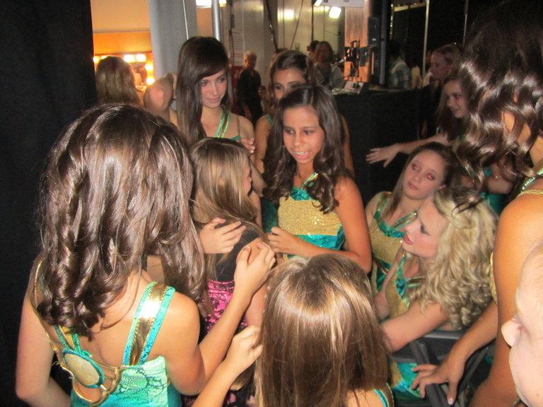 the girls wishing me luck
