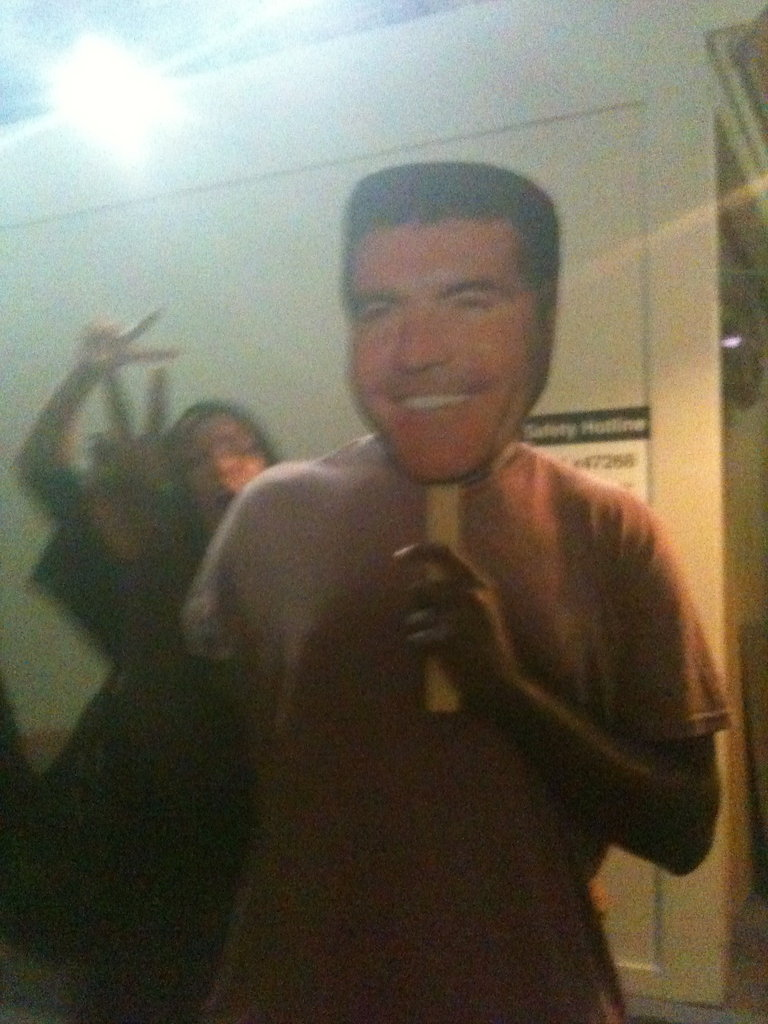 Simon Cowell with some of his most diehard fans lol