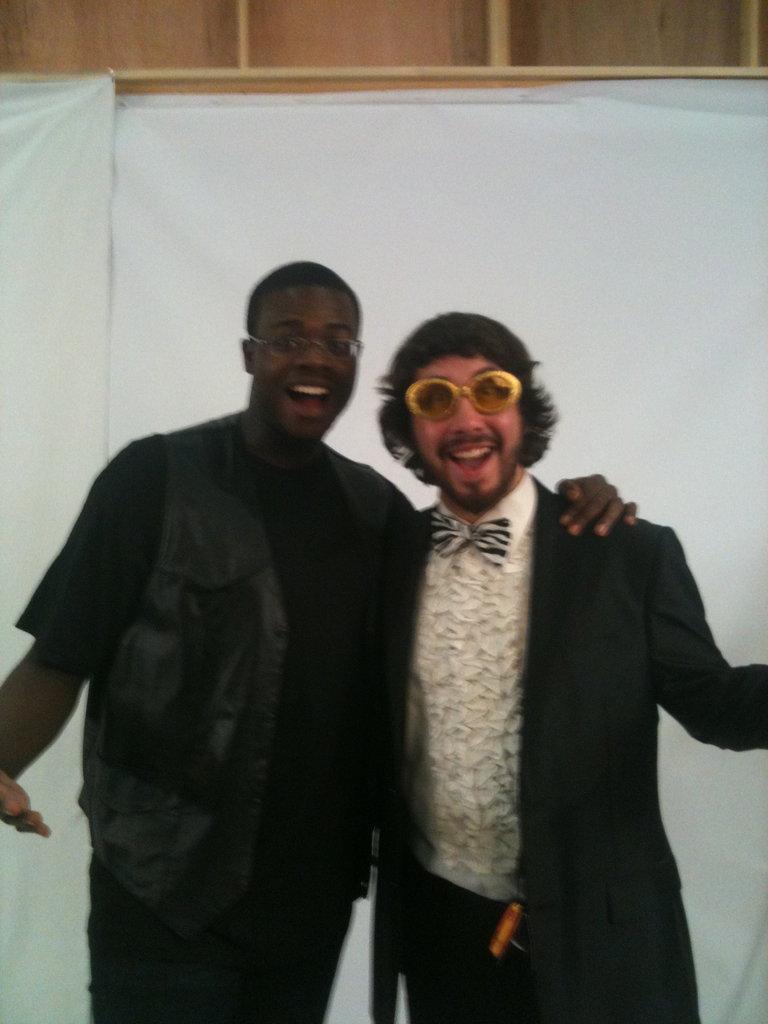 Kevin and Avi in Halloween wardrobe!