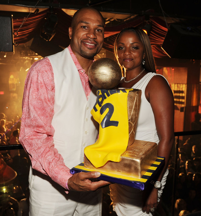 Five time champion LA Laker Derek Fisher Celebrates At TAO Las Vegas