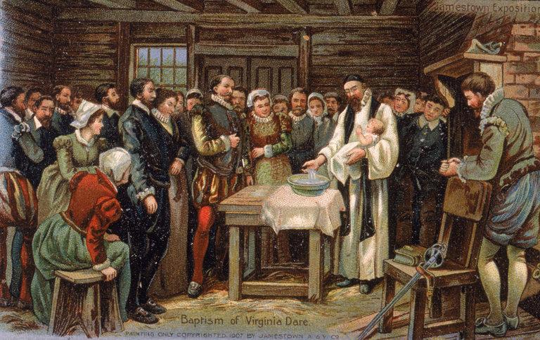 Baptism Of Virginia Dare