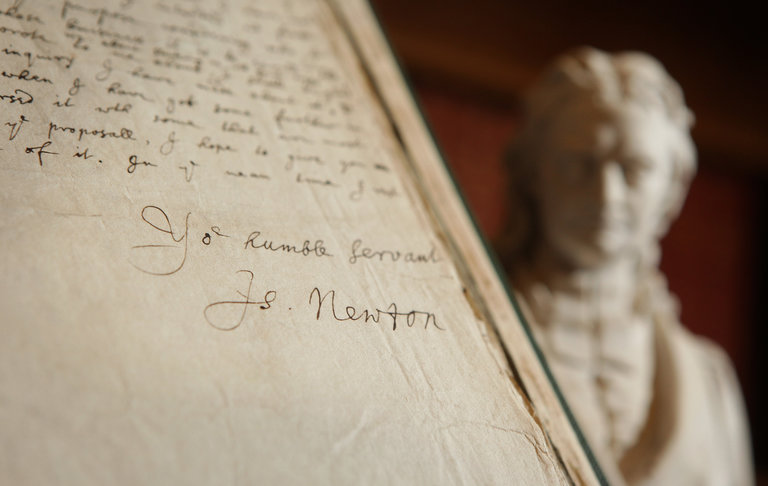 Manuscripts Are Displayed To Celebrate 350 Years Of The Royal Society
