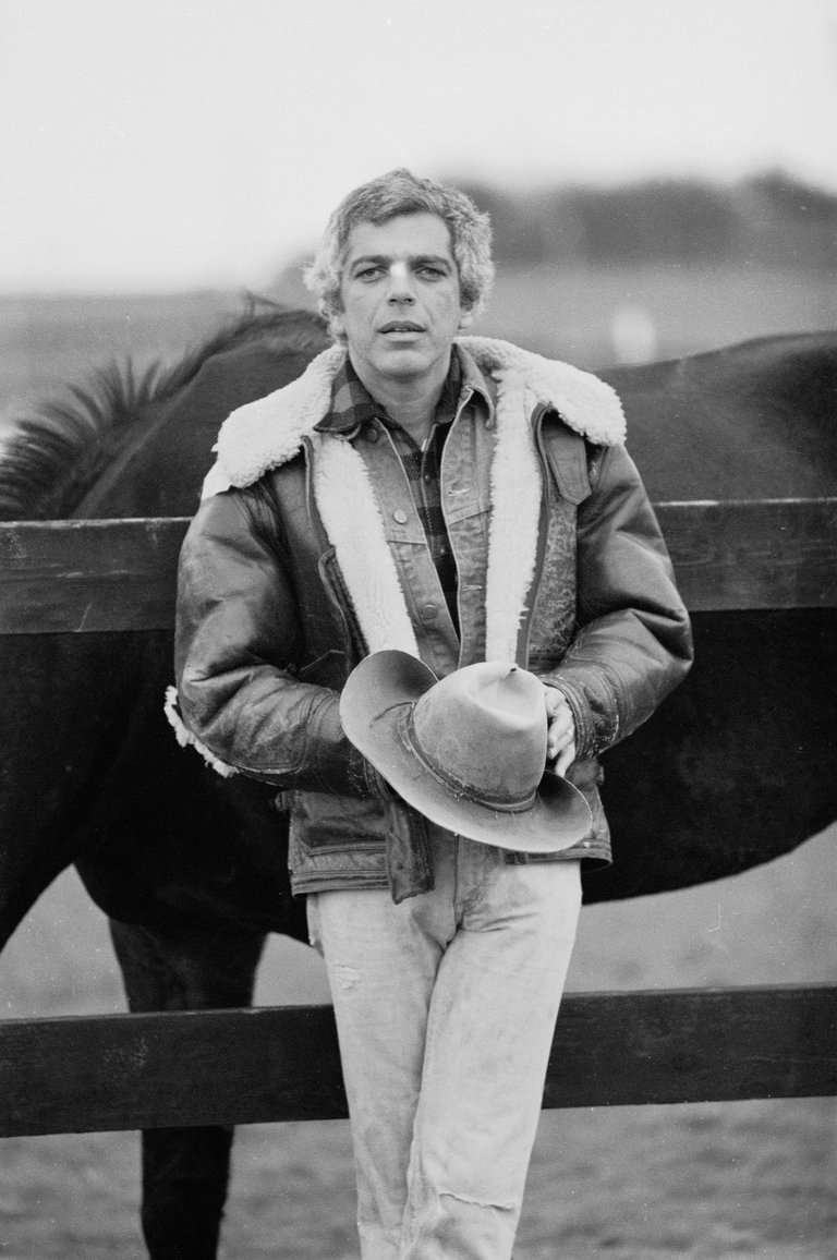 Portrait Of Ralph Lauren With Horses