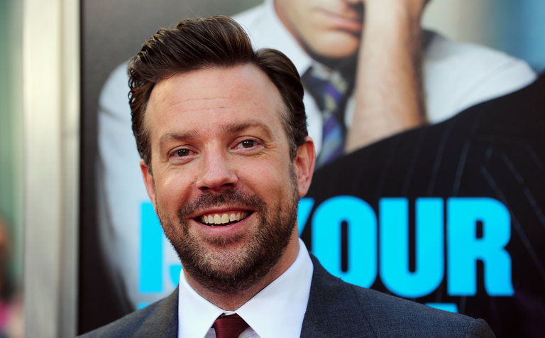 Actor Jason Sudeikis arrives for the Los