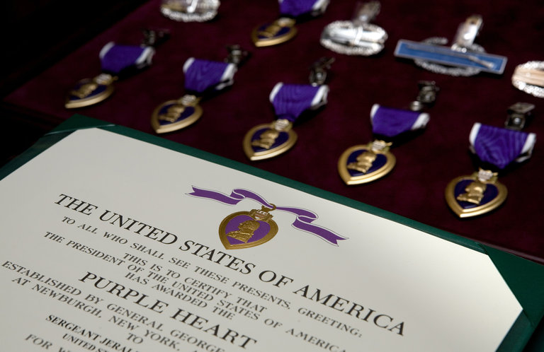 Nine Soldiers Receive Purple Hearts At Walter Reed Ceremony