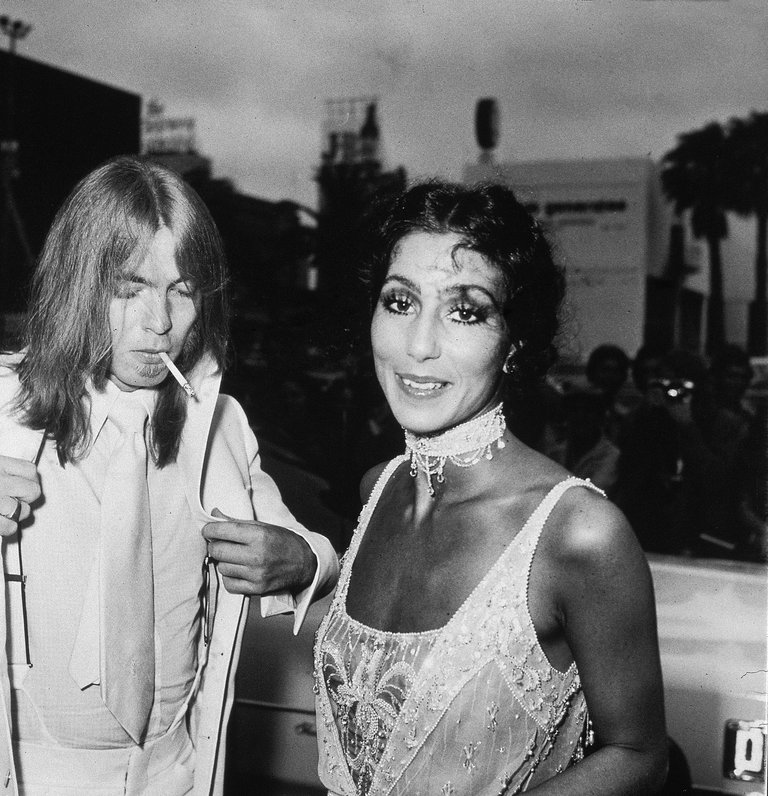 Cher & Gregg Allman At The Emmy Awards